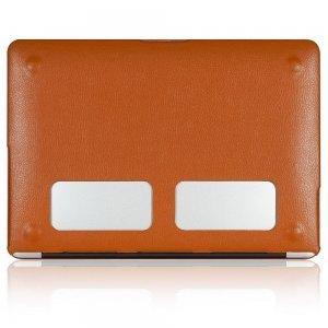 "Чехол-накладка для Apple MacBook Air 13"" - Kuzy Leather Hard Case оранжевый"