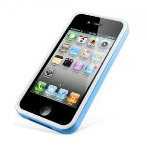 Чехол-бампер для Apple iPhone 4/4S - SGP Neo Hybrid 2S Snow голубой