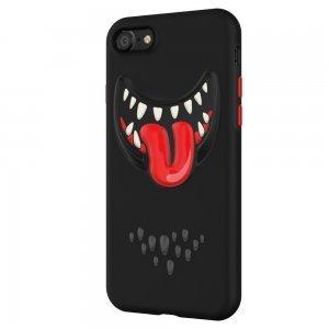3D чехол с рисунком SwitchEasy Monsters черный для iPhone 8/7