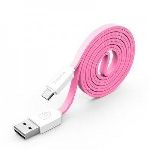Кабель Micro-USB - Baseus String 1м, розовый + белый