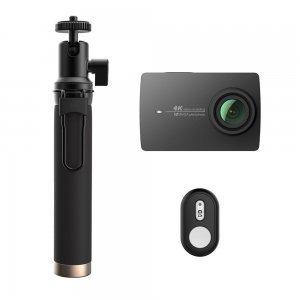 Экшн камера Xiaomi Yi 4K Action Camera Black Kit Selfie Stick + Bluetooth Remote International Edition (YI-90008) черная
