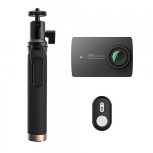 Экшн камера Xiaomi Yi 4K Action Camera Black Kit Selfie Stick + Bluetooth Remote International Edition (YI-90008) черная