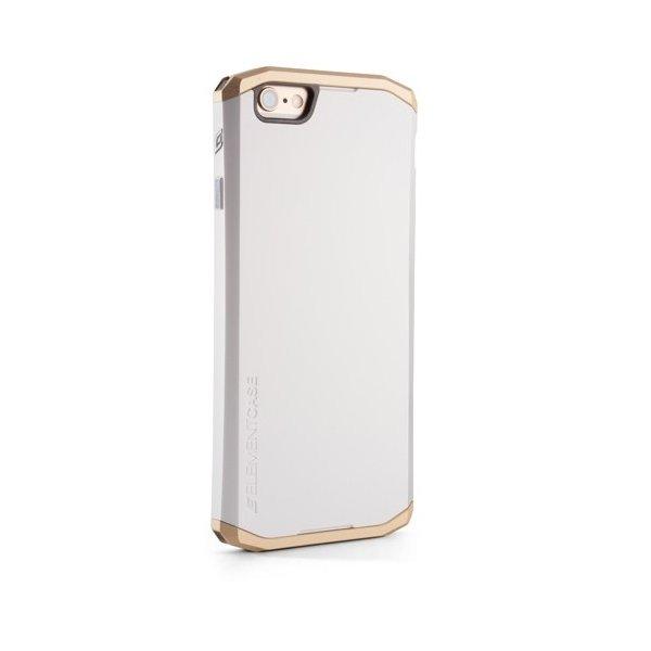 Чехол-накладка для Apple iPhone 6 - Element Case Solace белый + золотистый