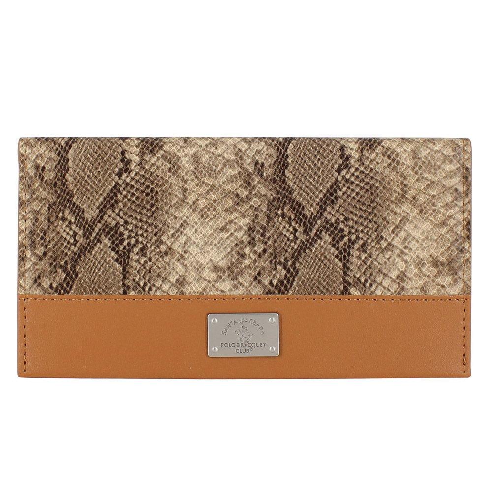 Кожаный чехол-кошелек Polo Piton коричневый для iPhone 5/5S/SE/6/6S/7/7 Plus/8/8 Plus/X/XS/XR