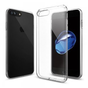 Силиконовый чехол Spigen Liquid Crystal прозрачный для iPhone 8 Plus/7 Plus