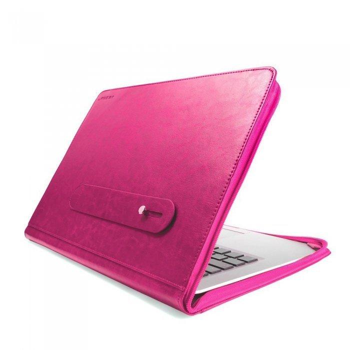 "Чехол-книжка для Apple MacBook Pro 13"" Retina - J.M.Show Thin Leather розовый"