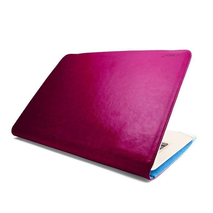 "Чехол-книжка для Apple MacBook Air 11"" - J.M.Show Thin Leather красный"