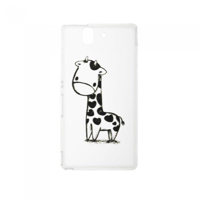 Чехол-накладка для Sony Xperia Z - Lirbano design Giraffe