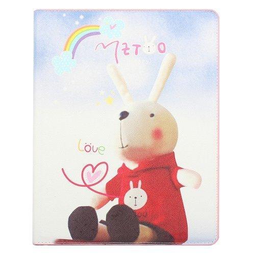 Чехол-книжка для Apple iPad 2/ 3/ 4 - Metoo Rabbit & Rainbow разноцветный