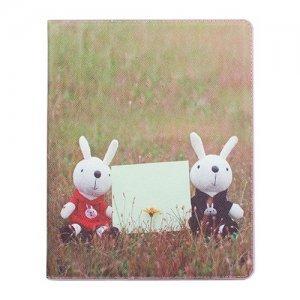 Чехол-книжка для Apple iPad 2/3/4 - Metoo Two Rabbits разноцветный