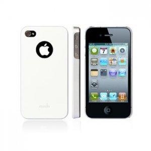 Чехол-накладка для Apple iPhone 4/4S - Moshi iGlaze 4 белый