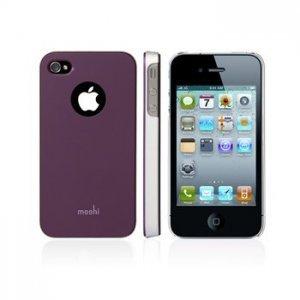 Чехол-накладка для Apple iPhone 4/4S - Moshi iGlaze 4 фиолетовый