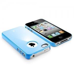 Чехол-накладка для Apple iPhone 4/4S - SGP Air Pastel голубой