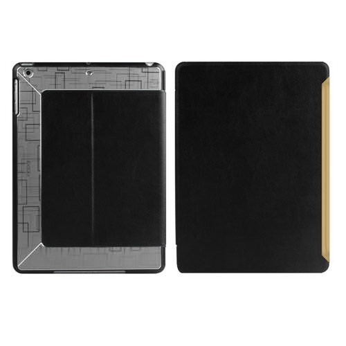 Чехол с орнаментом iBacks Flame черный + серый для iPad Air/iPad (2017/2018)