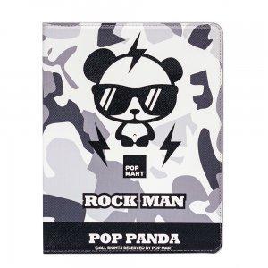 Чехол-книжка для Apple iPad 2/3/4 - Rock Man белый + черный