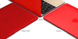 "Чехол-накладка для Apple MacBook 12"" - Kuzy Rubberized Hard Case красный"
