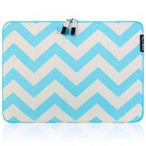 "Чехол-карман для Apple MacBook 13"" - Runetz Soft Sleeve голубой (шеврон)"