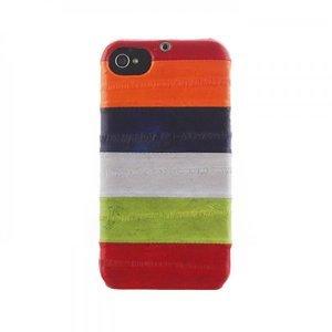 Чехол-накладка для Apple iPhone 4/4S - Zenus Prestige Natural Eel Bar разноцветный