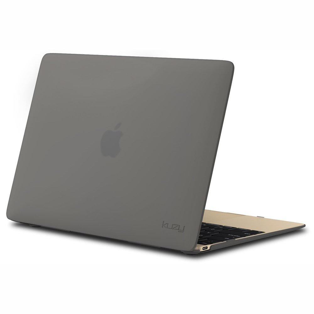 "Чехол-накладка для Apple MacBook 12"" - Kuzy Rubberized Hard Case серый"