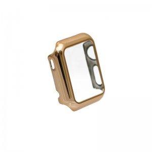 Чехол-накладка для Apple Watch 38мм - Coteetci золотистый