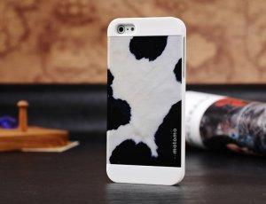 Чехол-накладка для Apple iPhone 5/5S - Motomo Cow белый