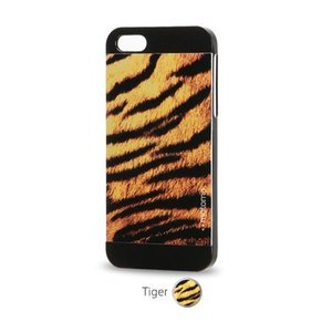 Чехол-накладка для Apple iPhone 5/5S - Motomo Tiger черный