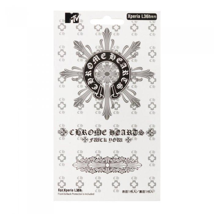Наклейка для Sony Xperia Z L36h - MTV Skin Chrome Hearts