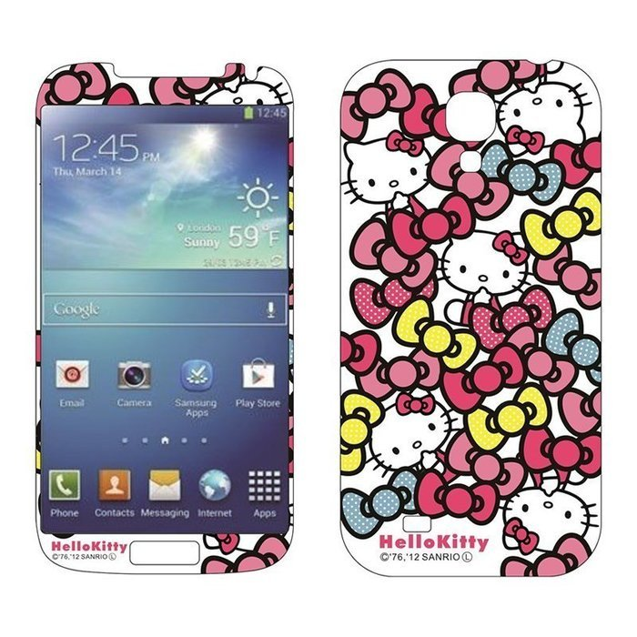 Наклейка для Samsung Galaxy S4 i9500 - MTV Hello Kitty & Bows