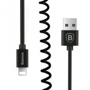 Кабель спиральный Lightning для Apple iPad, iPhone, iPod - Baseus Elastic черный