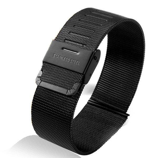 Ремешок для Apple Watch 42 мм - iBacks Stainless Steel черный