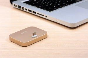 Док-станция для iPhone - COTEetCI Base8 золотистая
