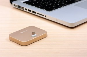 Док-станция COTEetCI Base8 золотистая для iPhone