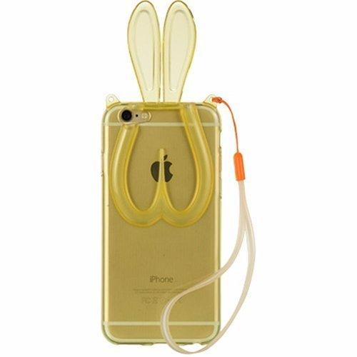 Чехол-накладка для Apple iPhone 5/5S - зайчик, оранжевый