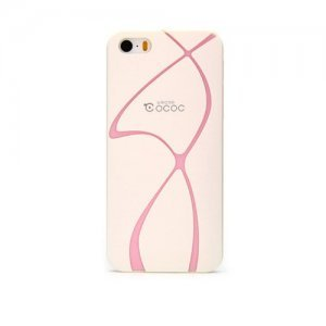 Пластиковый чехол Cococ Wave белый для iPhone 5/5S/SE