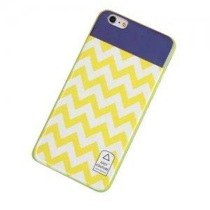 Чехол-накладка для Apple iPhone 6 - Juicy Couture Stripes желтый