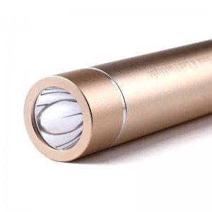 Внешний аккумулятор Liondo с функцией фонарика золотой