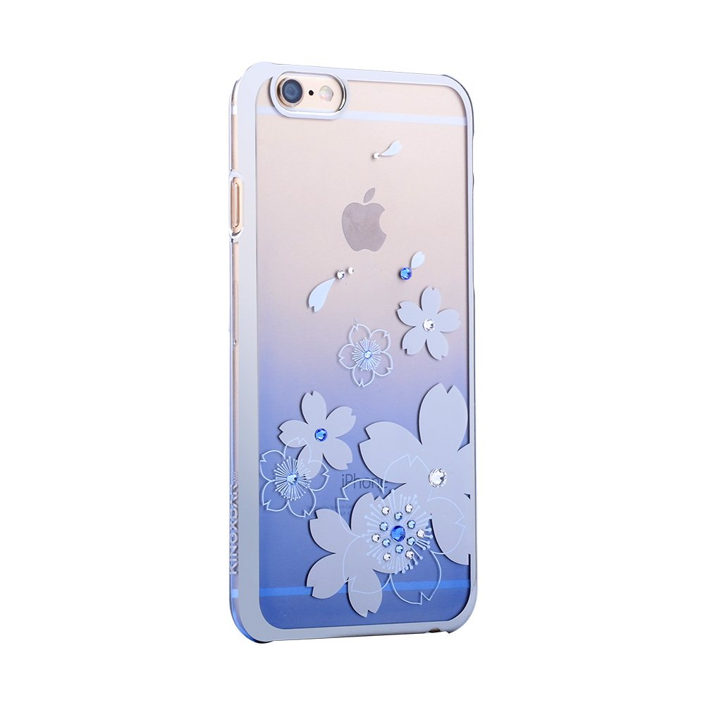 Чехол-накладка для Apple iPhone 6/6S - Kingxbar Flowers синий