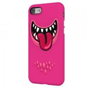 3D чехол с рисунком SwitchEasy Monsters розовый для iPhone 8/7