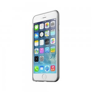 Чехол-бампер для Apple iPhone 6 - LEXAN Aluminum серый