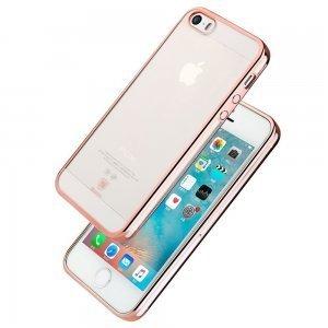 Чехол-накладка для Apple iPhone 5/5S/SE - Baseus shining розовый