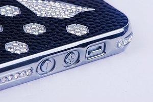 Чехол-накладка для Apple iPhone 5/5S - NewSH Swarovski Swan черный
