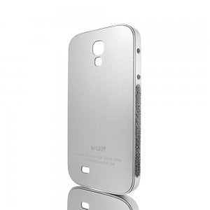 Чехол-накладка для Samsung Galaxy S4 - NewSH Swarovski design серебристый