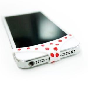 Трусы для Apple iPhone 4/4S/5/5S/5C - белые в клубничку