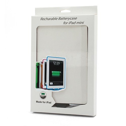 Чехол с доп.аккумулятором для Apple iPad mini 6500 мАч черный + белый