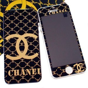 Наклейка для Apple iPhone 5/5S - RJ Skin Chanel dark