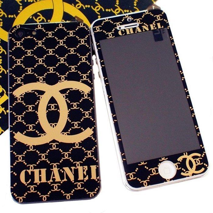 Наклейка для Apple iPhone 5/5S - RJ Skin Chanel dark