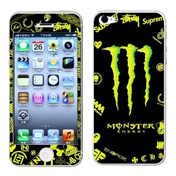 Наклейка для Apple iPhone 5/5S - RJ Skin Monster Energy