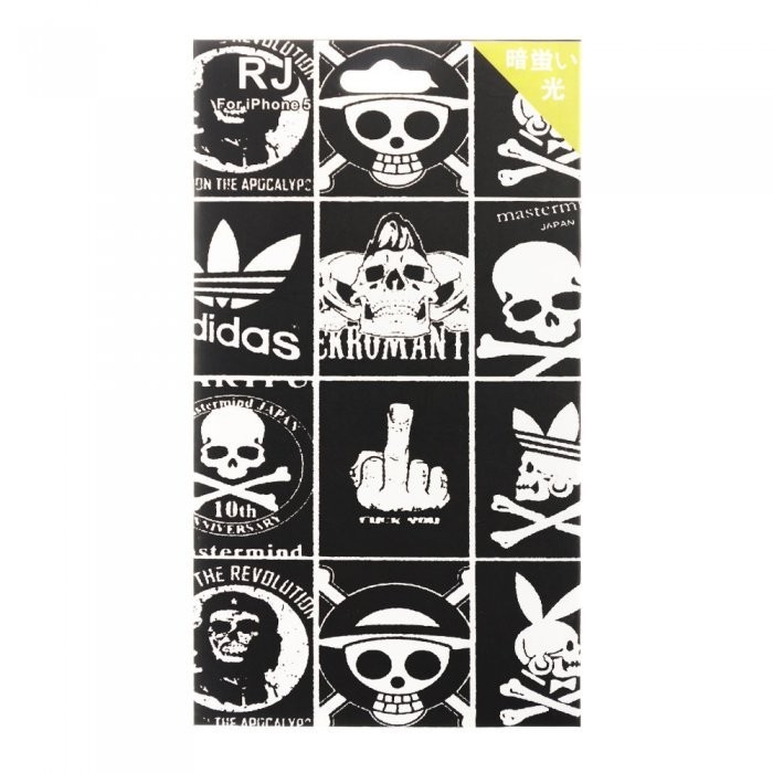 Наклейка для Apple iPhone 5/5S - RJ Skin Skulls