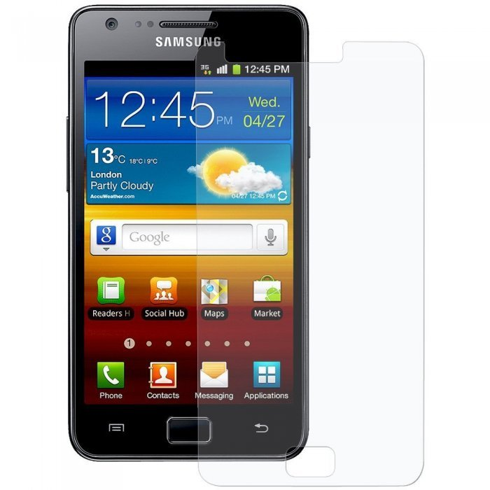 Защитная пленка для SamsungGalaxySII Plus i9100/i9105 - Screen Ward глянцевая прозрачная