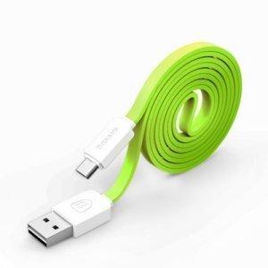 Кабель Micro-USB - Baseus String 1м, зеленый + белый